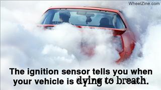 American Car In Smoke