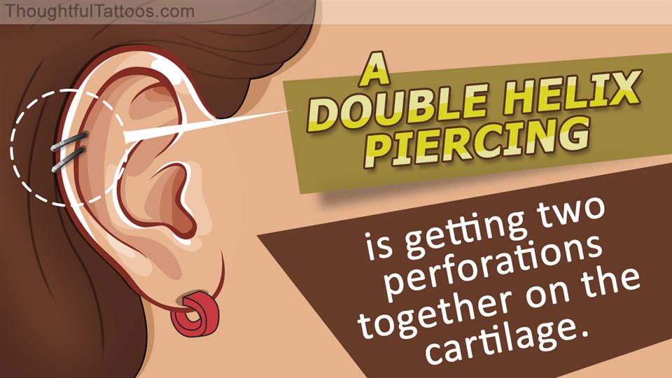 Double helix piercing styles
