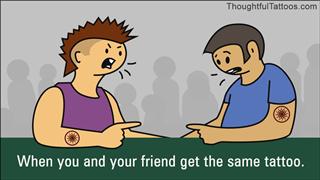 When the tattoo of best friends match