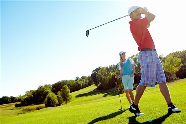 Golfing pros