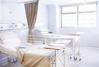 Empty hospital ward