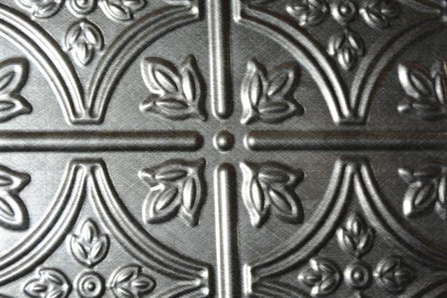 Silver color tin tile