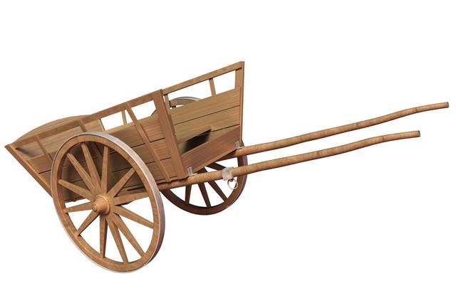 Ancient wooden cart