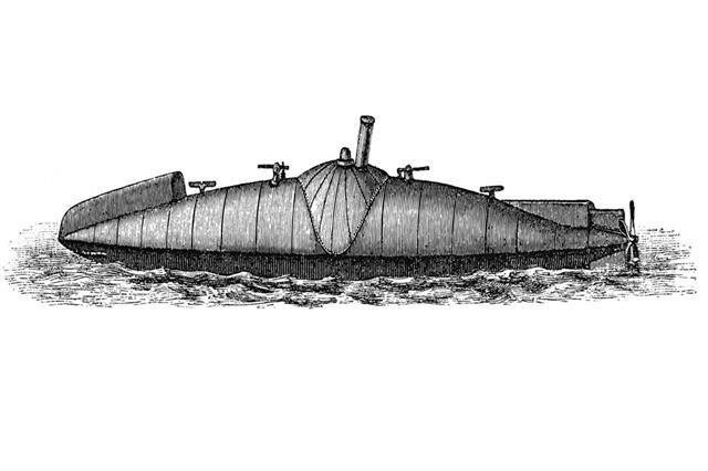 Antique submarine
