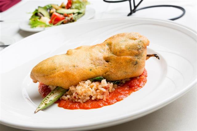 Chili relleno dish