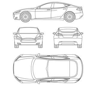 Blueprint of Car