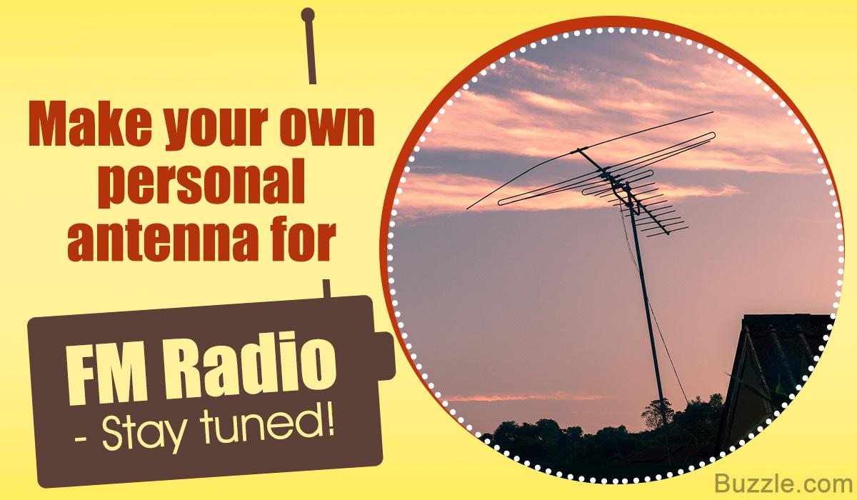 Homemade FM Radio Antenna