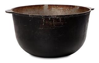Old dirty big pot