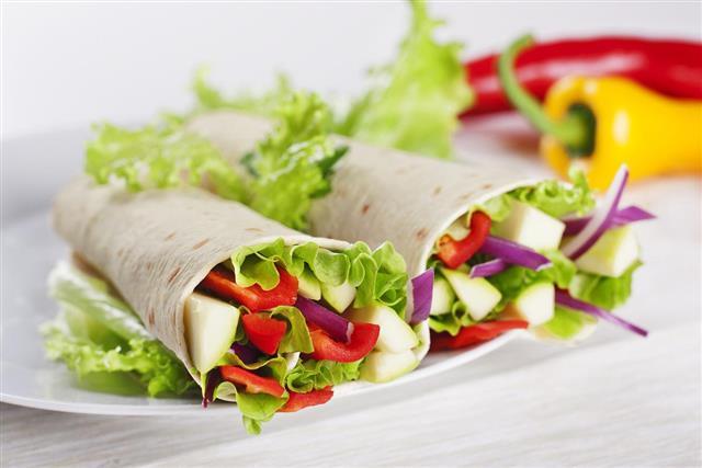 Vegetarian Salad Tortilla wraps