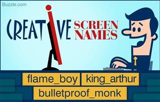 Creative screen names