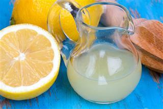Lemon juicer on an old wooden table