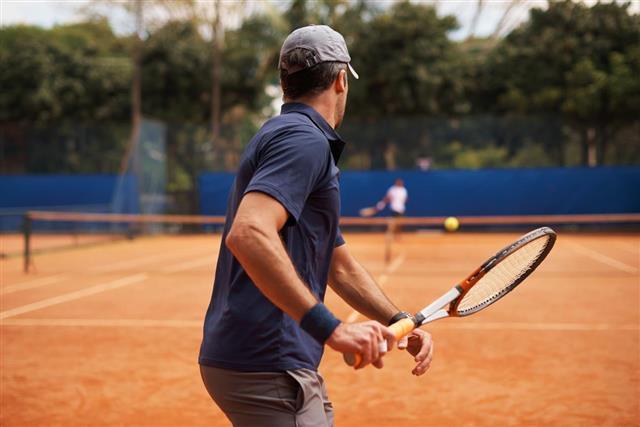 Facing a great tennis rival