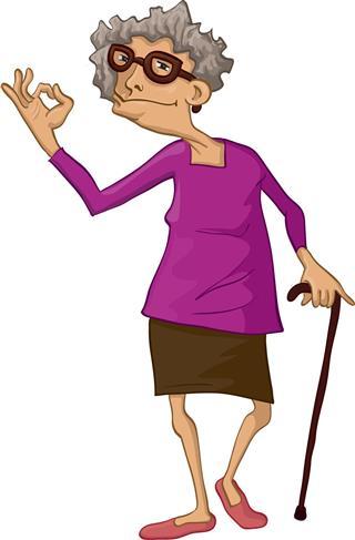 caricature of Grandma