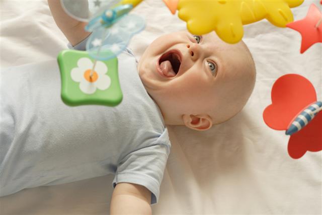 baby having fun