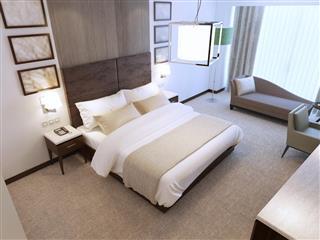 Modern bedroom in daylight