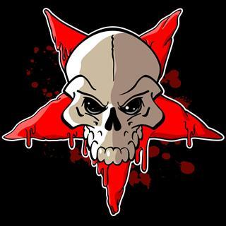 Skull in red star