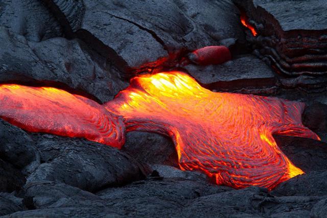 Lava molten rock