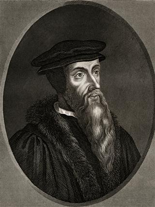 John Calvin sepia toned