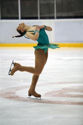 Figure Skating Lay Back Spin