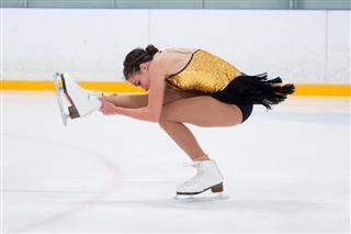 Figure Skating Sit Spin