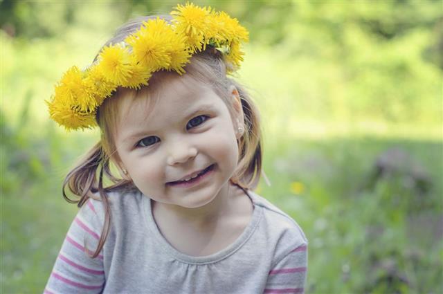 Happy and cheerful girl