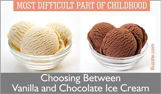 Chocolate ice cream,Vanilla ice cream