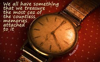 Vintage golden wristwatch