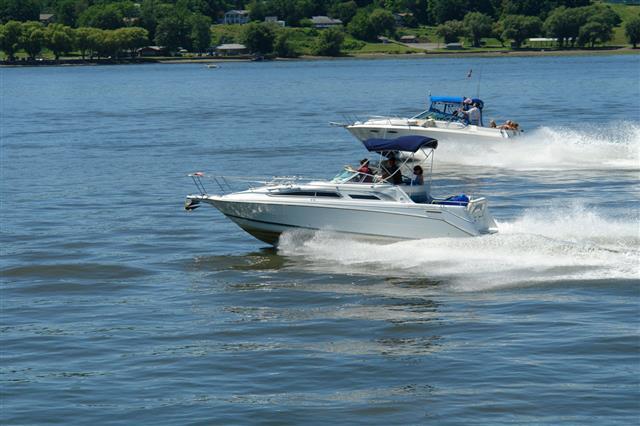 Passing Speedboats