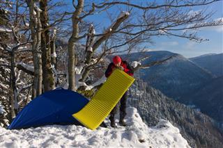 hiker camping