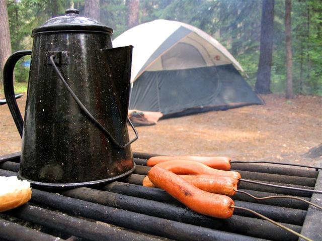 Camping food items