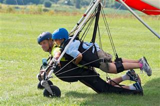 Tandem Hang Gliders Landed