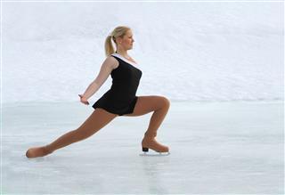 Figure Skating On Natural Ice