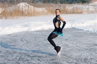 Young Figure Skating Woman