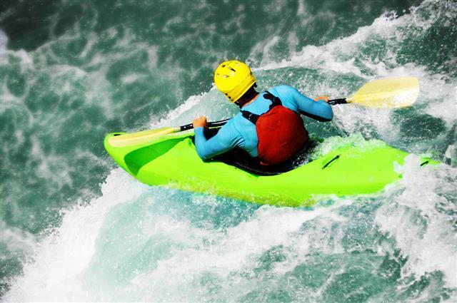 River Kayaking Extreme Waterfall