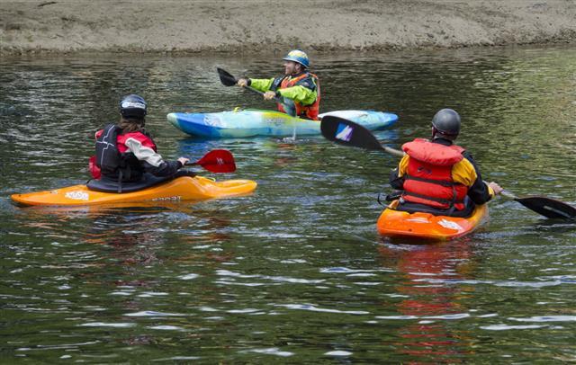 Teaching Kayaking On A Lake