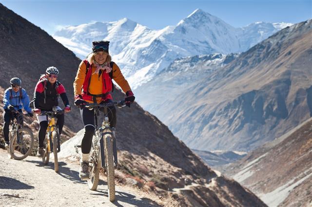 Female Mountain Bike Leader