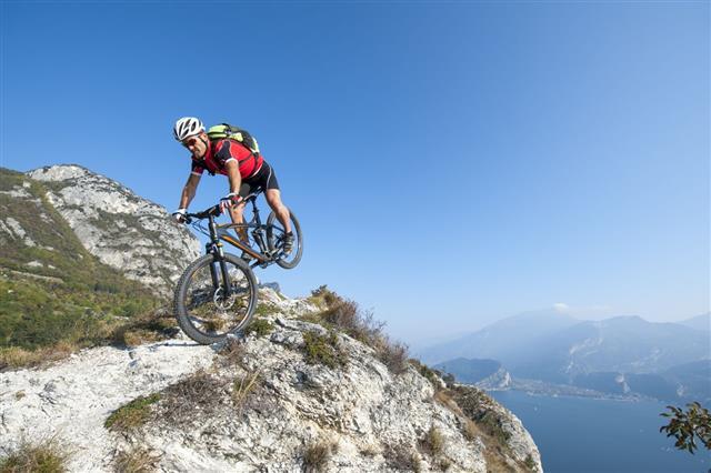 Mountain Bike Acrobatic Crash