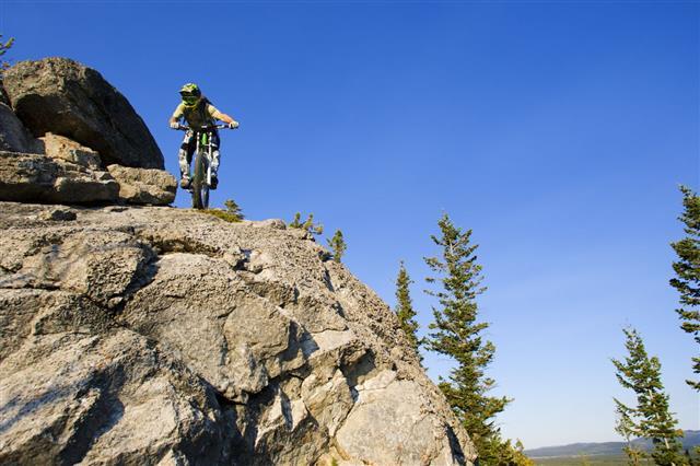 Downhill Mountain Bike Rider