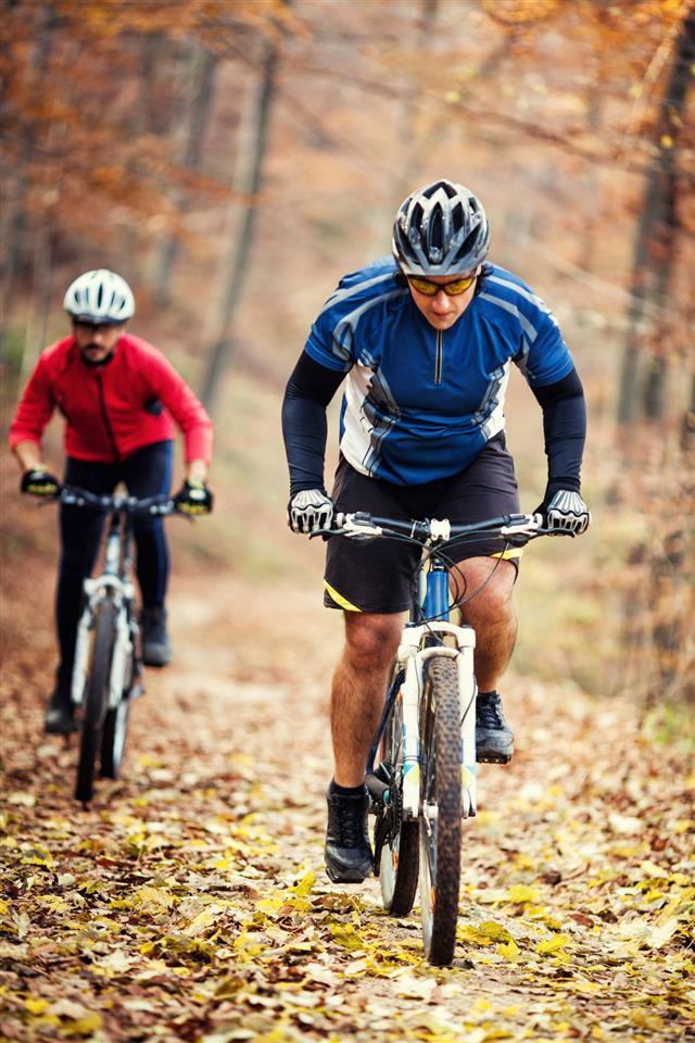 Men doing cycling