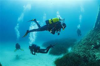 Tauchen unter Wasser