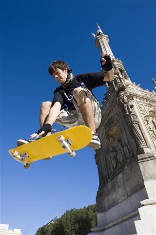 Skater boy in action