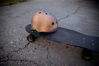 Nude And Black Sports Helmet