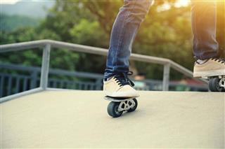 skateboarder riding on freeline