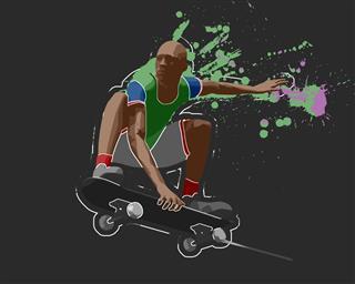 Skateboarder Rendering