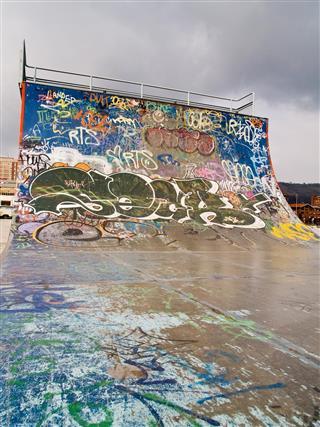 ramp at a skate park