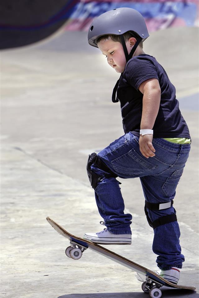 boy on the skateboard