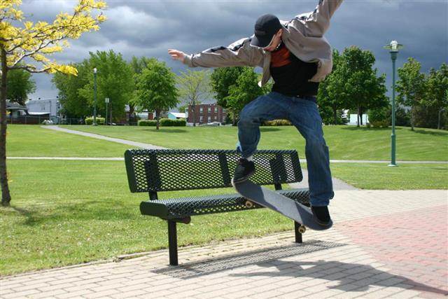 Skater in park