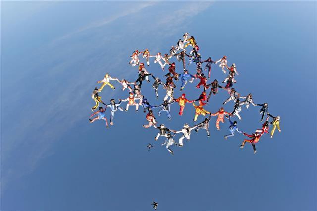 Aerial Team Work