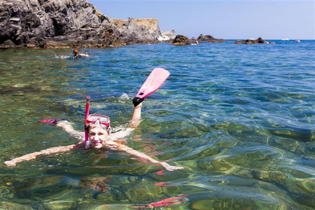 Snorkeling In Mediterranean Sea