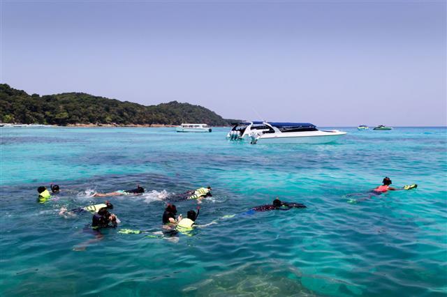 Snorkeling At Koh Tachai Island